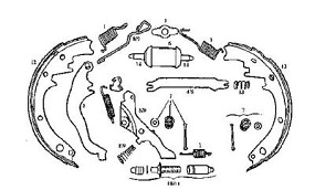 GMC Motorhome brake parts