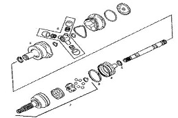 GMC Motorhome drive and axle parts